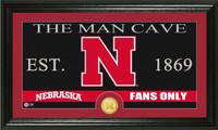 University of Nebraska Man Cave Bronze Coin Panoramic Photo Mint