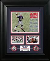 Tom Brady 400th Career Touchdown Pass Marquee Silver Coin Photo Mint