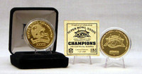 SuperbowlxXXIX Champion 24 Kt Gold Overlay Coin