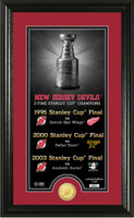 New Jersey Devils Legacy Supreme Bronze Coin Panoramic Photo Mint
