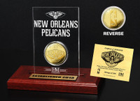 New Orleans Pelicans Gold Coin Etched Acrylic