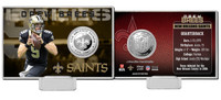 Drew Brees Silver Coin Card