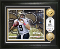 Drew Brees Gold Coin Photo Mint