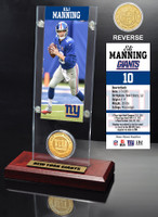 Eli Manning Ticket & Bronze Coin Acrylic Desk Top
