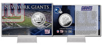New York Giants Silver Coin Card