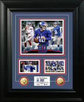 Eli Manning Marquee Gold Coin Photo Mint