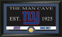 New York Giants Man Cave Bronze Coin Panoramic Photo Mint