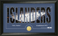 New York Islanders Silhouette Bronze Coin Panoramic Photo Mint