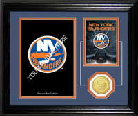 New York Islanders Fan Memories Bronze Coin Desktop Photo Mint