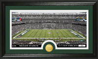 New York Jets Stadium Bronze Coin Panoramic Photo Mint