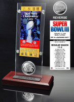 Super Bowl 3 Ticket & Game Coin Collection