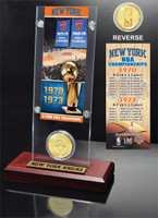 New York Knicks 2-time NBA Champions Bronze Coin Ticket Acrylic