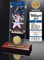 David Wright Ticket & Bronze Coin Acrylic Desk Top