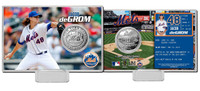 Jacob DeGrom Silver Coin Card