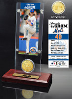 Jacob DeGrom Ticket & Bronze Coin Acrylic Desk Top
