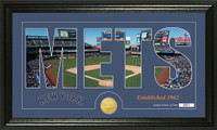 New York Mets Silhouette Bronze Coin Panoramic Photo Mint