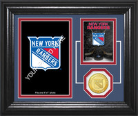 New York Rangers Fan Memories Bronze Coin Desktop Photo Mint