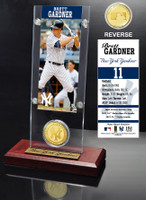 Brett Gardner Ticket & Bronze Coin Acrylic Desk Top