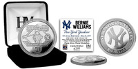 Bernie Williams Retirement Day Silver Mint Coin