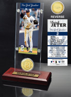 Derek Jeter Final Season Ticket & Bronze Coin Desk Top