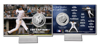Derek Jeter The Captain Silver Coin Card