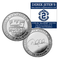 Derek Jeter Final Season 14 time All Star Coin # 2