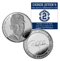 Derek Jeter Final Season Rookie of the Year Coin #3