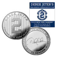 Derek Jeter Final Season New York Yankees Forever Coin #4