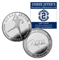 Derek Jeter Final Season Jump Throw Coin #6