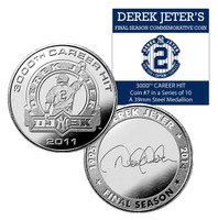 Derek Jeter Final Season DJ3k Coin #7