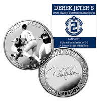 Derek Jeter Final Season Fan Vote Coin #8