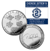 Derek Jeter Final Season 5 World Series Titles Coin #9
