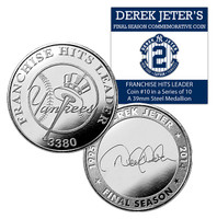 Derek Jeter Final Season Yankees All Time Hit Leader Coin #10