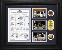 New York Yankees 2009 World Series Champs Game 6 Line Up Card 24KT Gold Coin Photo Mint