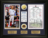 Derek Jeter Final All Star Game Line Up Card Gold Coin Photo Mint