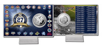 New York Yankees 27x WS Champs Silver Coin Card