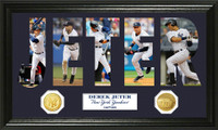 Derek Jeter Word Art Bronze Coin Panoramic  Photo Mint