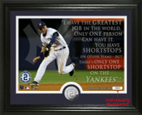Derek Jeter Quote Silver Coin Photo Mint