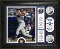 Derek Jeter 2000 World Series MVP Silver Coin and Subway Token Photo Mint