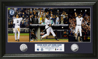 Derek Jeter Yankee Stadium Final Game Silver Coin Pano