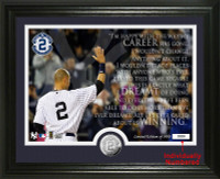Derek Jeter Yankee StadiumFinal Game Quote Minted Coin Photo Mint