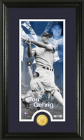 Lou Gehrig Supreme Bronze Coin Panoramic Photo Mint