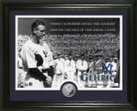 Lou Gehrig Speech Silver Coin Photo Mint