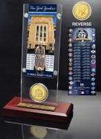 New York Yankees World Series Ticket & Bronze Coin Acrylic Desk Top