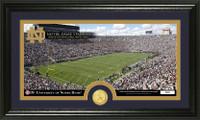 University of Notre Dame Stadium Bronze Coin Panoramic Photo Mint