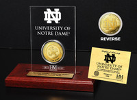 University of Notre Dame  24KT Gold Coin Etched Acrylic