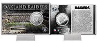 Oakland Raiders Silver Coin Card