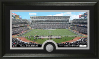 Oakland Raiders Stadium Minted Coin Panoramic Photo Mint