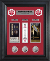 **Ohio State Buckeyes 2014 College Football National Champions Deluxe Silver Coin & Ticket Collection