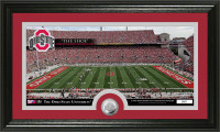 Ohio State Buckeyes Stadium Minted Coin Panoramic Photo Mint